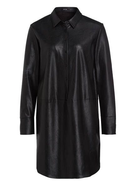 OPUS Blusenkleid WESA in Lederoptik , Farbe: SCHWARZ (Bild 1)