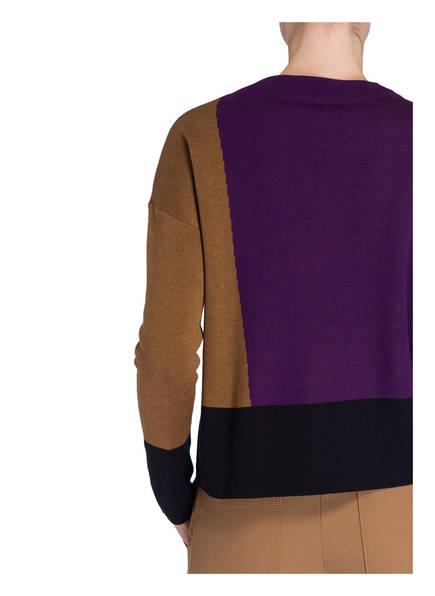 Pullover TADEUS von someday   LILA/ COGNAC/ DUNKELBLAU
