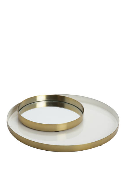 AU MAISON 2er-Set Tabletts, Farbe: GOLD/ WEISS (Bild 1)