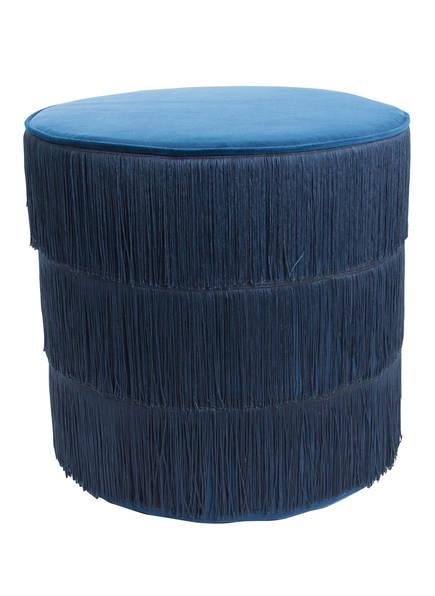 AU MAISON Samt-Hocker , Farbe: BLAU (Bild 1)