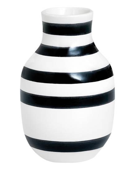 KÄHLER Vase OMAGGIO SMALL, Farbe: WEISS/ SCHWARZ (Bild 1)
