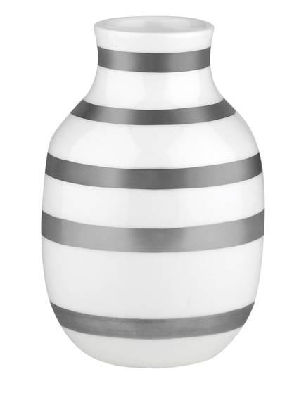 KÄHLER Vase OMAGGIO SMALL, Farbe: WEISS/ SILBER  (Bild 1)
