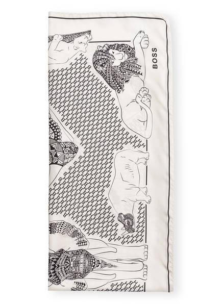 BOSS Seidentuch LEILLA, Farbe: CREME/ SCHWARZ (Bild 1)