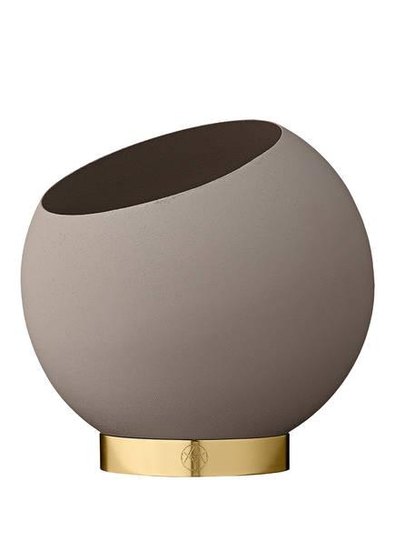 AYTM Blumentopf GLOBLE EXTRA SMALL, Farbe: HELLGRAU/ GOLD (Bild 1)