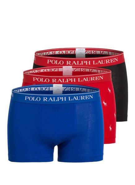 POLO RALPH LAUREN 3er-Pack Boxershorts, Farbe: SCHWARZ/ ROT/ BLAU (Bild 1)