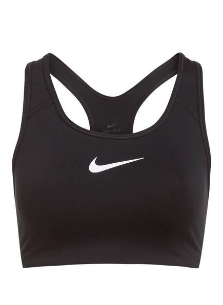 Nike Sport-BH CLASSIC SWOOSH, Farbe: SCHWARZ/ WEISS (Bild 1)