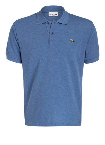 LACOSTE Piqué-Poloshirt Classic Fit, Farbe: BLAU MELIERT (Bild 1)