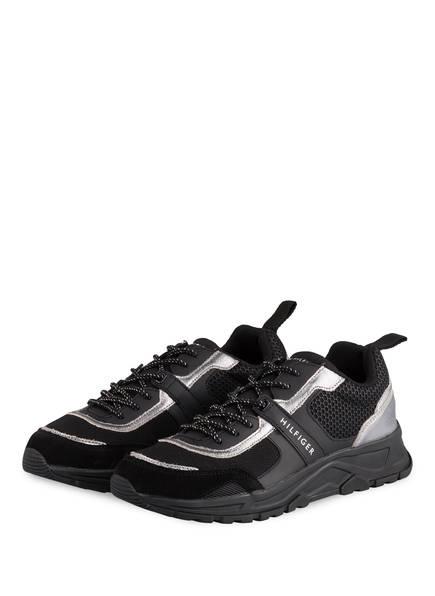 TOMMY HILFIGER Sneaker, Farbe: SCHWARZ/ SILBER (Bild 1)