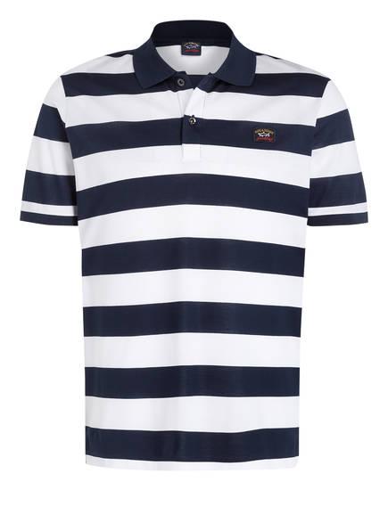 PAUL & SHARK Piqué-Poloshirt, Farbe: NAVY/ WEISS GESTREIFT (Bild 1)