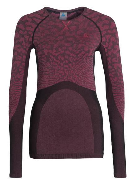 odlo Funktionswäsche-Shirt PERFORMANCE BLACKCOMB, Farbe: SCHWARZ/ BEERE (Bild 1)