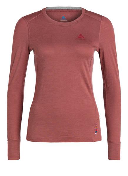 odlo Funktionswäsche-Shirt NATURAL WARM , Farbe: ALTROSA MELIERT (Bild 1)