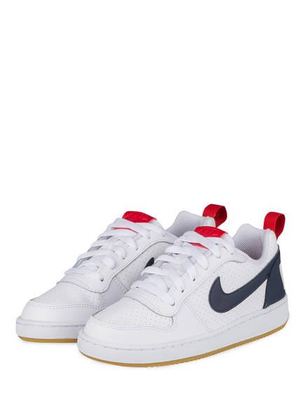 Nike Sneaker COURT BOROUGH, Farbe: WEISS/ BLAU/ ROT (Bild 1)