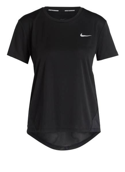 Nike Laufshirt MILER mit Mesh-Einsatz, Farbe: SCHWARZ (Bild 1)