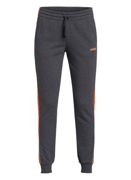 adidas Sweatpants PERFORMANCE ESSENTIALS, Farbe: GRAU MELIERT/ ORANGE (Bild 1)