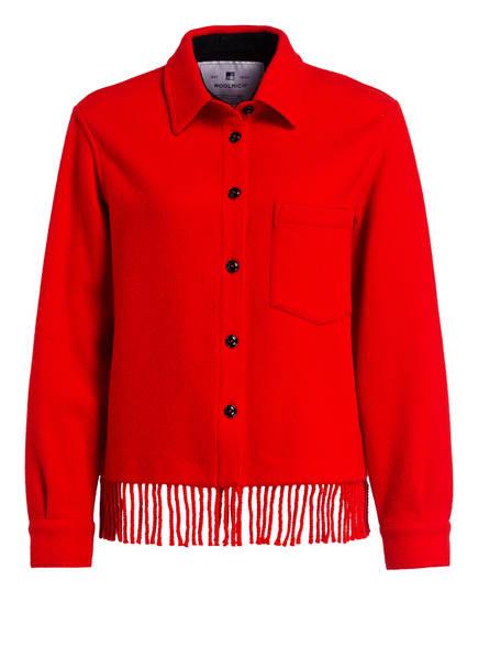 WOOLRICH Wolljacke BLANKET, Farbe: ROT (Bild 1)