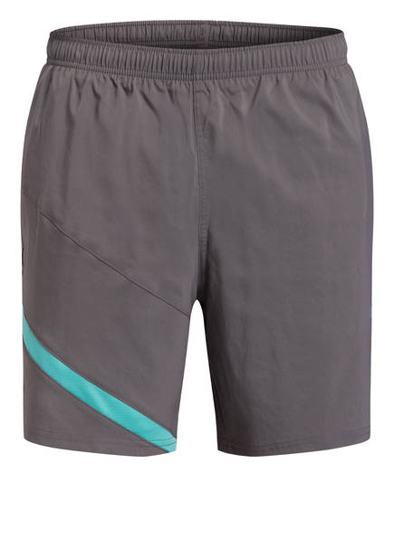 PUMA Trainingsshorts IGNITE BLOCKED, Farbe: GRAU/ TÜRKIS (Bild 1)