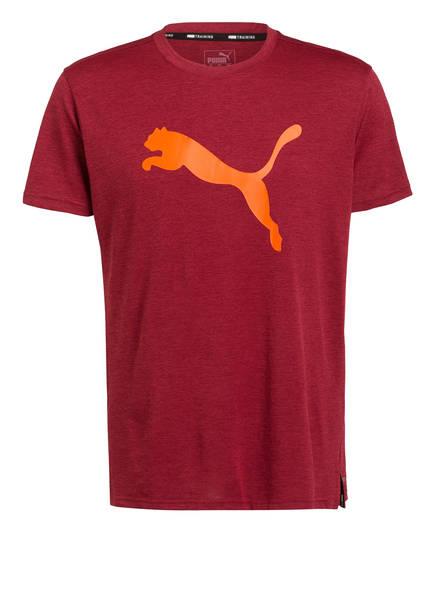 PUMA T-Shirt HEATHER CAT, Farbe: DUNKELROT (Bild 1)