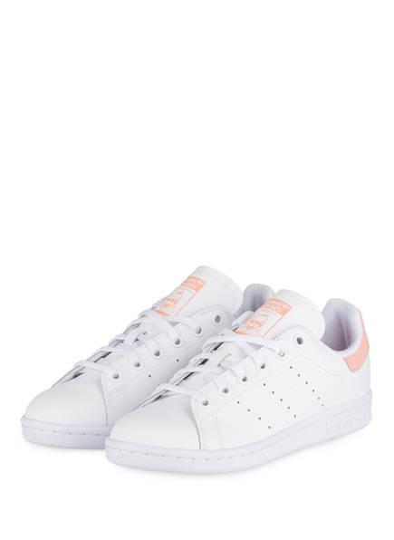 adidas Originals Sneaker STAN SMITH J, Farbe: WEISS/ ROSA (Bild 1)
