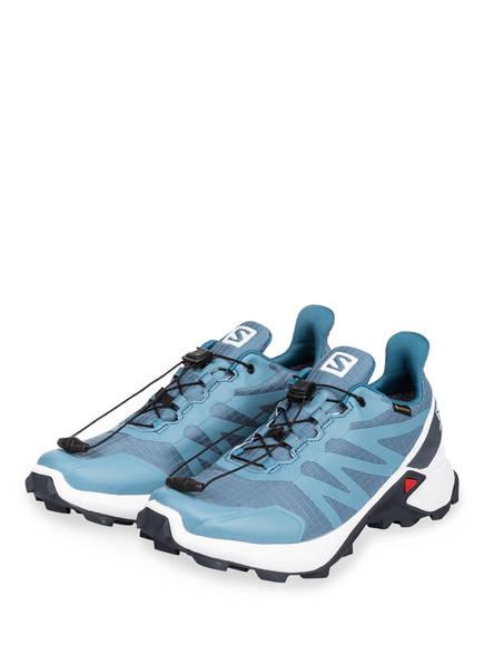 SALOMON Trailrunning-Schuhe SUPERCROSS GTX, Farbe: BLAU/ WEISS (Bild 1)
