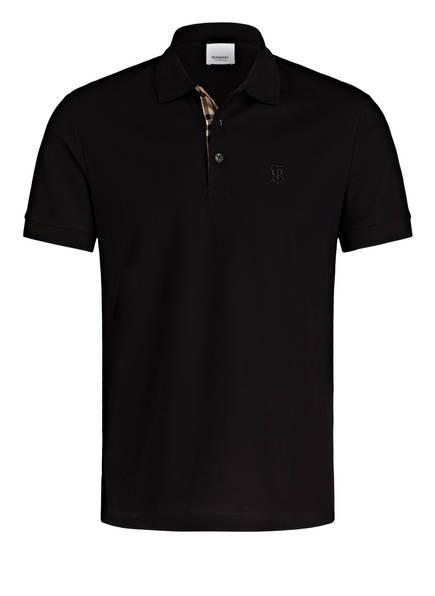 BURBERRY Piqué-Poloshirt EDDIE Slim Fit, Farbe: SCHWARZ (Bild 1)
