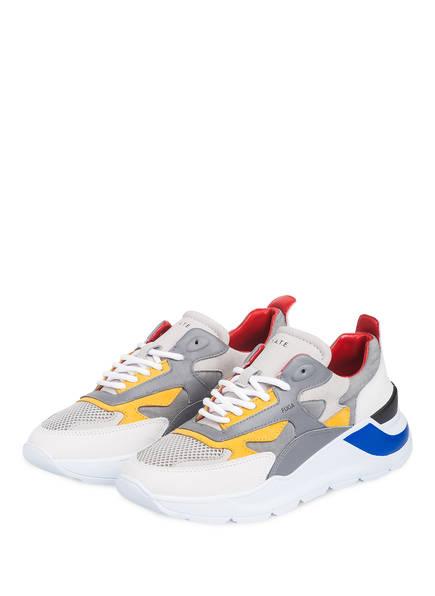 D.A.T.E. Sneaker FUGA RIPSTOP, Farbe: GRAU/ GELB/ CREME  (Bild 1)