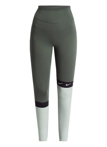 Nike 7/8-Tights, Farbe: OLIV/ HELLGRÜN (Bild 1)