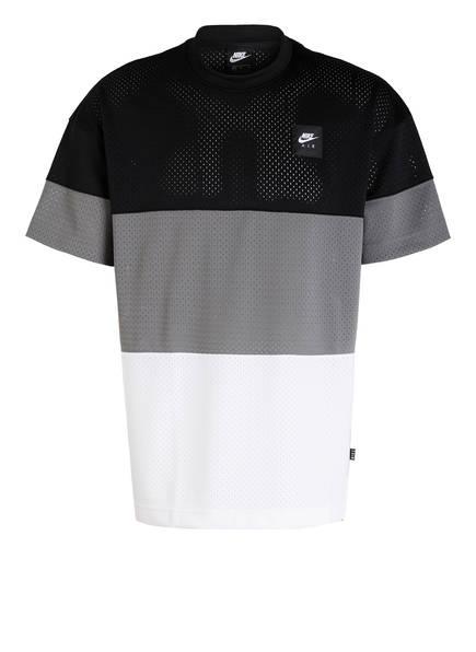 Nike T-Shirt AIR, Farbe: SCHWARZ/ WEISS/ GRAU (Bild 1)