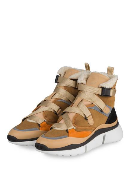 Chloé Hightop-Sneaker SONNIE, Farbe: QUIET BROWN (Bild 1)