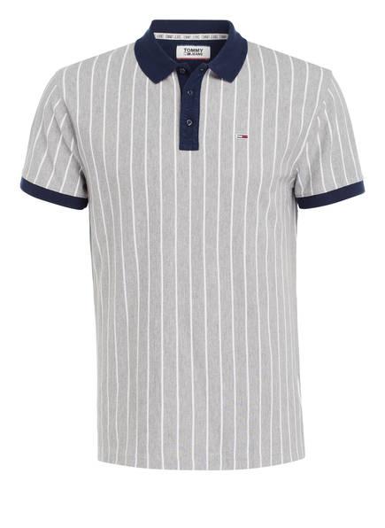 TOMMY JEANS Piqué-Poloshirt, Farbe: GRAU/ WEISS  (Bild 1)