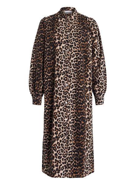 GANNI Kleid, Farbe: BEIGE/ BRAUN GEMUSTERT (Bild 1)