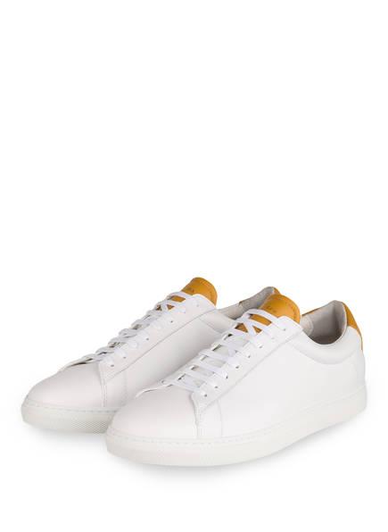 ZESPÀ, AIX-EN-PROVENCE Sneaker, Farbe: WEISS/ DUNKELGELB (Bild 1)