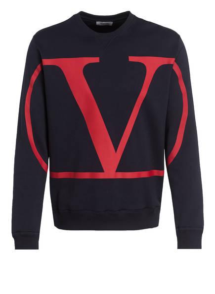 VALENTINO Sweatshirt VLOGO, Farbe: DUNKELBLAU/ DUNKELROT (Bild 1)