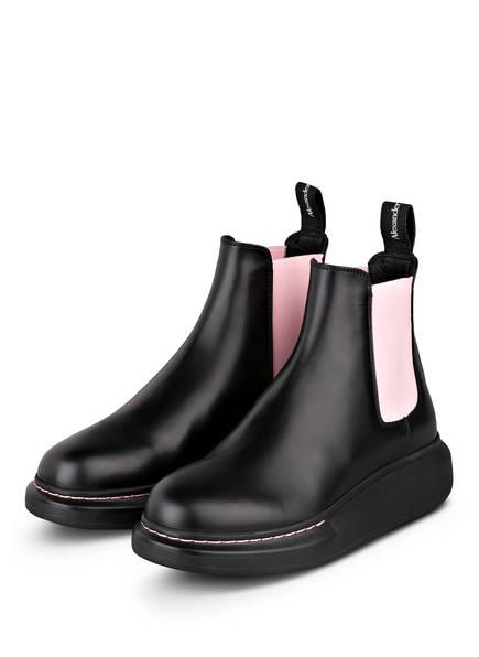 Alexander McQUEEN Chelsea-Boots, Farbe: SCHWARZ/ ROSA (Bild 1)