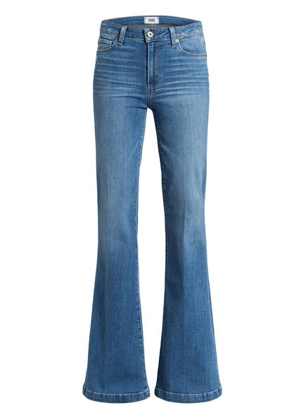 PAIGE Flared-Jeans GENEVIEVE , Farbe: NORTH STAR/ BLUE (Bild 1)