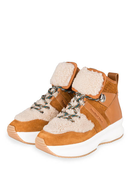 SEE BY CHLOÉ Hightop-Sneaker, Farbe: BRAUN (Bild 1)