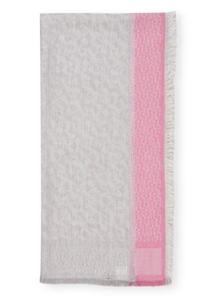 AIGNER Tuch mit Glitzergarn, Farbe: HELLGRAU/ ROSA (Bild 1)