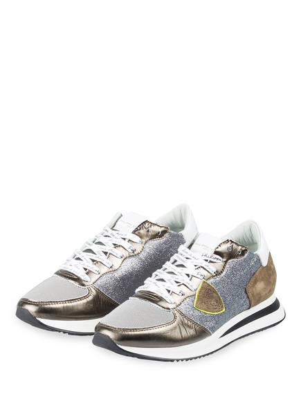 PHILIPPE MODEL Sneaker TROPEZ, Farbe: KHAKI/ SILBER (Bild 1)