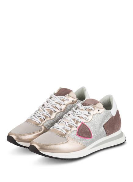 PHILIPPE MODEL Sneaker TROPEZ, Farbe: ROSÈ/ SILBER (Bild 1)