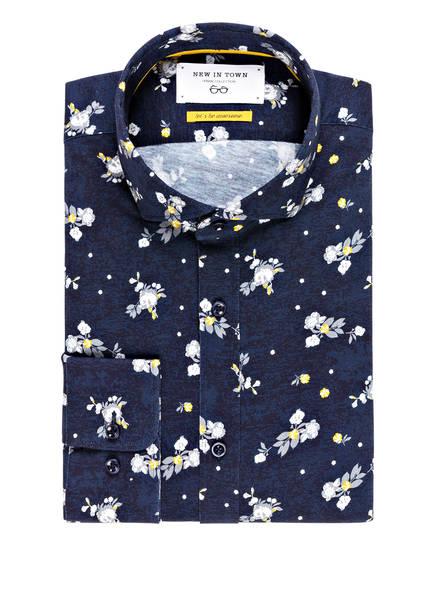 NEW IN TOWN Jerseyhemd Slim Fit, Farbe: BLAU/ GRAU (Bild 1)