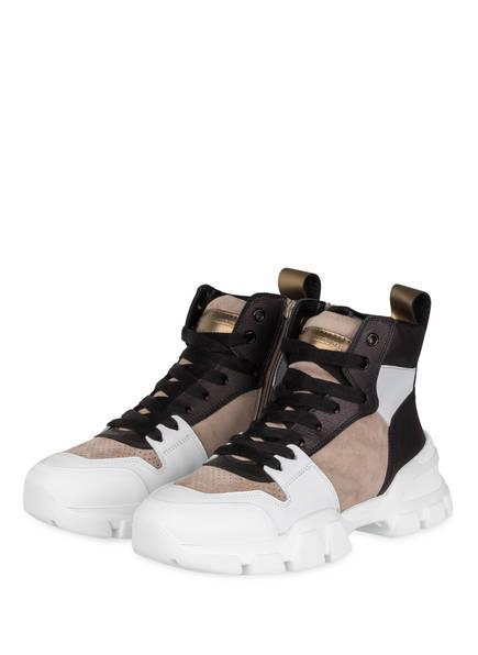 KENNEL & SCHMENGER Hightop-Sneaker ACE, Farbe: TAUPE/ WEISS/ SCHWARZ (Bild 1)