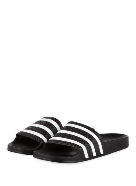 adidas Originals Badeschuhe ADILETTE , Farbe: SCHWARZ/ WEISS (Bild 1)