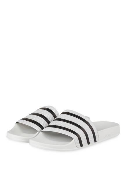 adidas Originals Pantoletten, Farbe: WEISS/ SCHWARZ (Bild 1)