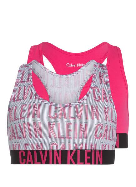 Calvin Klein 2er-Pack Bustiers, Farbe: PINK/ WEISS (Bild 1)