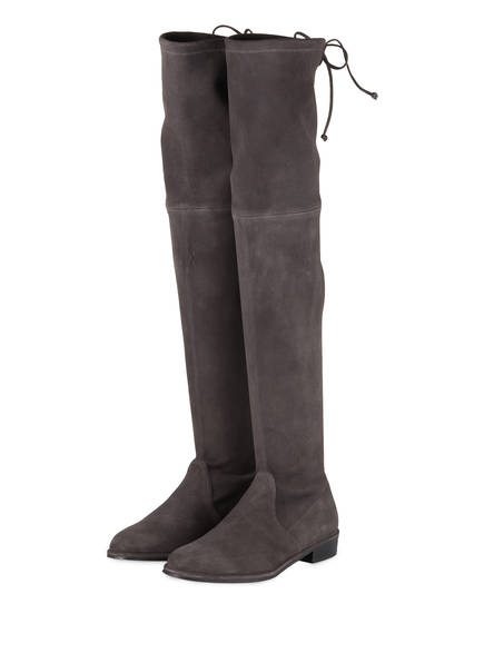 STUART WEITZMAN Overknee-Stiefel LOWLAND, Farbe: DUNKELGRAU (Bild 1)