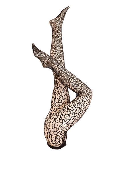 Wolford Netz-Strumpfhose MICRO FISH SCALE, Farbe: 7005 BLACK (Bild 1)