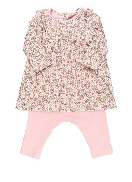 PETIT BATEAU Kleid mit integrierter Leggings , Farbe: ROSA/ ROT/ GRÜN (Bild 1)