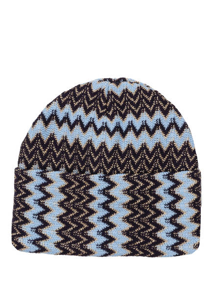 MISSONI Mütze , Farbe: HELLBLAU/ SCHWARZ (Bild 1)