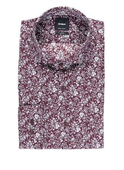 strellson Hemd SERENO Slim Fit, Farbe: DUNKELROT/ WEISS (Bild 1)