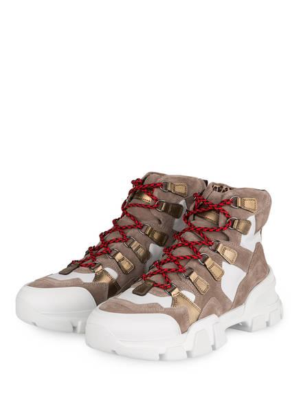 KENNEL & SCHMENGER Hightop-Sneaker ACE, Farbe: TAUPE/ WEISS/ GOLD (Bild 1)