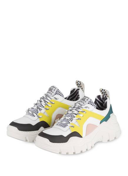 MÉLINÉ Plateau-Sneaker, Farbe: WEISS/ SCHWARZ/ GELB (Bild 1)